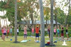 Yoga-Workshop unter Palmen