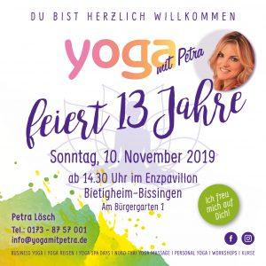 13 JAHRE YOGA MIT PETRA JUBILÄUM ☼☼☼ @ Enzpavillon Bürgergarten | Bietigheim-Bissingen | Baden-Württemberg | Deutschland